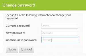 Change Reset Password