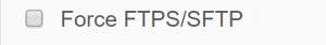 Force FTPS SFTP